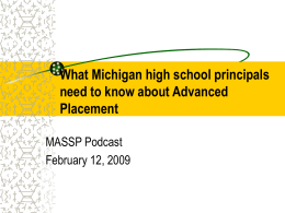 What high school principals need to know about Advanced Placement