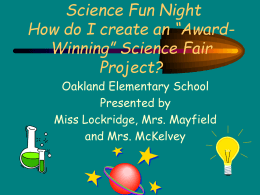 science fair projects - Spartanburg School District 2