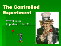The Controlled Experiment