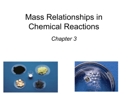 Mass Relationships in Chemical Reactions - Tutor