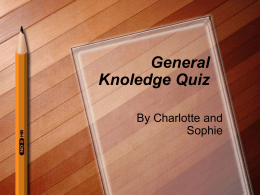General Knoledge Quiz
