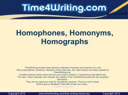 Homograph vs Homophone