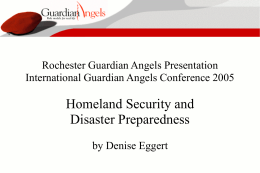 Rochester Guardian Angels Presentation International Guardian