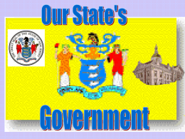 New Jersey`s State Government Powerpoint