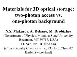 Materials for 3D optical