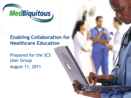 Enabling Collaboration for Healthcare Education