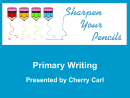 Primary Writing Presentation