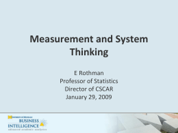 Measurement and System Thinking