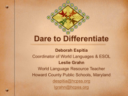 Daring to Differentiate - Dare to Differentiate