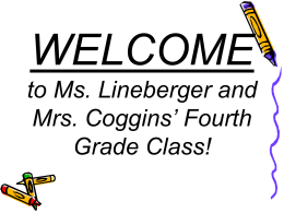 File - Ms. Lineberger`s Fabulous Fourth Grade!