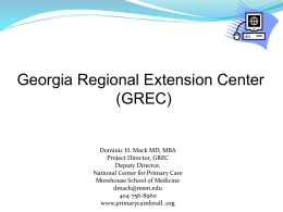 HITECH ACT - Georgia Partnership for Telehealth