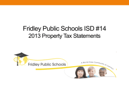 Proposed Property Tax Statement