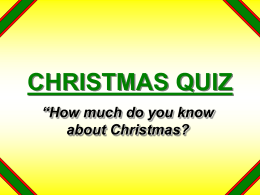 christmas quiz - eBibleTeacher