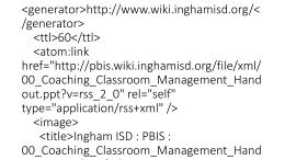 Ingham ISD : PBIS