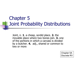 Ch 5A Discrete Joint Probability Distributions
