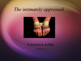 The intimately oppressed Chapter 6