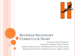 Hayfield Curriculum Night