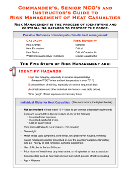 Heat Risk Management Slideshow