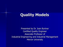 ETM627 Lecture Quality Models