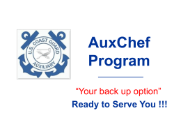 AUXCHEF Program - U.S. Coast Guard Auxiliary