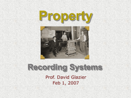2/1 Recording System Types