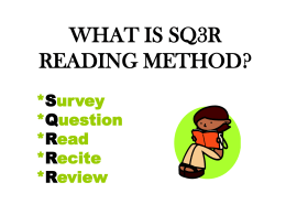 WHAT IS SQ3R READING METHOD?