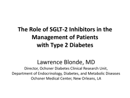 The Role of SGLT-2 Inhibitors in the Management of Patients with