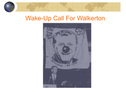 Wake-up call for Walkerton