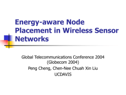 Energy-aware Node Placement in Wireless Sensor Networks