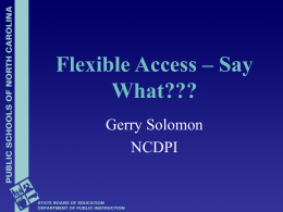 Flexible Access