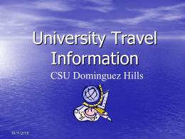 University Travel Training - California State University, Dominguez