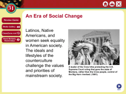 Era of Social Change - Barberton City Schools