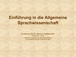 Morphologische Kategorien - titus - Goethe