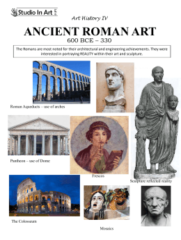 Ancient Roman Art Handout
