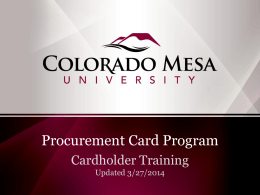 Activate Your Card - Colorado Mesa University