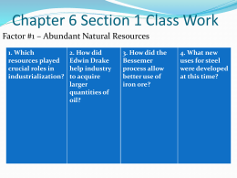 Chapter 6 Section 1 Class Work