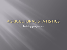 Agricultural statistics - OIC Statistical Commission