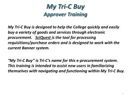 My Tri-C Buy - Tri