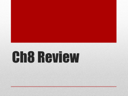 Ch8 Review