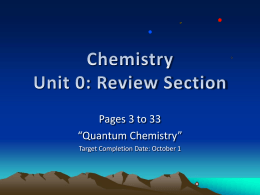 Chapter 1 - chem534