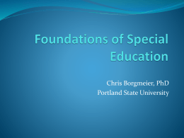 Foundations of Special Education - spedfoundations