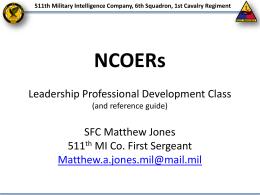 NCOER Leadership Development Class