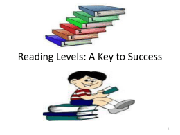 Reading Levels: A Key to Success
