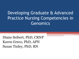 Advanced Practice Nursing (APN) Genetics/Genomics