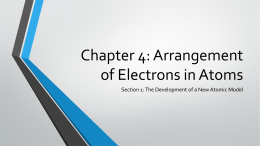 Chapter 4: Arrangement of Electrons in Atoms