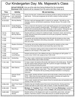 2015-16 Schedule Description for Parents