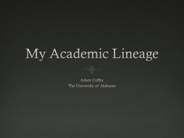 My Academic Lineage
