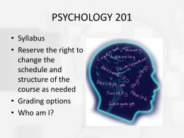 Chapter 1 Introduction to Psychology and Research Methods