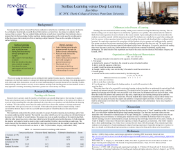 Surface learning - Penn State University