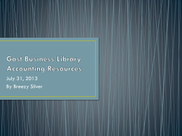 Gast Business Library Accounting Resources